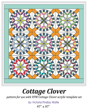 *New* Cottage Clover Pattern and Template Set