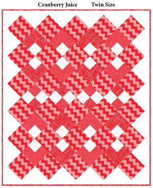 Cranberry Juice Variation Twin Quilt Kit