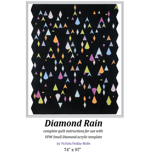 *NEW* Diamond Rain Quilt: *Pattern Instructions Only