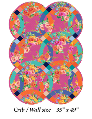 *NEW* Elise Floral Double Wedding Ring Quilt: Fabric Kit