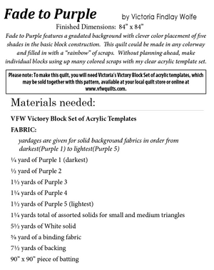 Fade to Purple: *Pattern Instructions Only