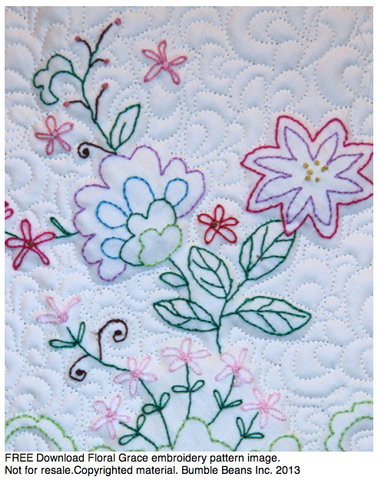 FREE Download Embroidery Floral