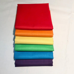 *NEW* Solid Bundle - 6 half yards Bundle - RAINBOW