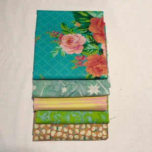 *NEW* 5 pc Half Yard Bundle - Aqua Tropics