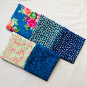 *NEW* 5 pc Half Yard Bundle - Blue 2