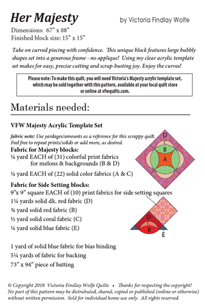 *New* Majesty Pattern *Instructions Only*