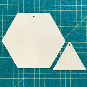 "Large 10"" Hex and Triangle acrylic template set"
