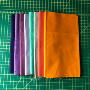 8 piece selection of 1/4 yard cuts - solids