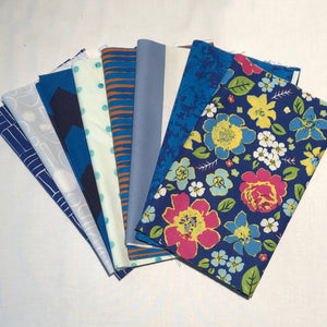 *NEW* 8 piece select bundle of 1/4 yard cuts - Blues