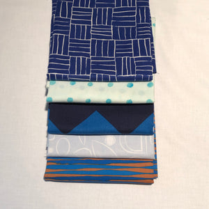 *NEW* 5 pc Half Yard Bundle - Blues