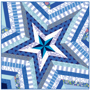 "*NEW* Star Storm Mini 40"" Quilt Kit - Blues"