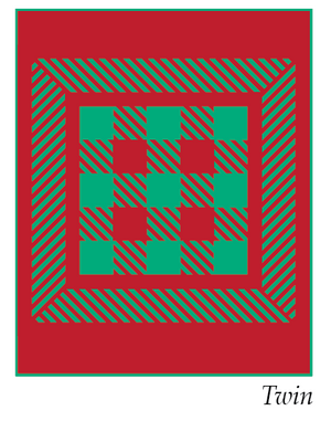 *NEW* Warp Weaver Quilt Kit - Red & Green