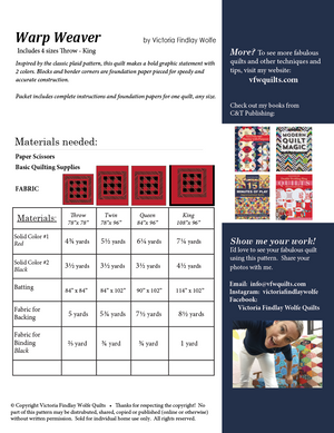 *NEW* Warp Weaver Quilt Kit - Navy & White