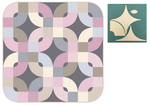 *NEW* Florid Blooms Quilt - Shadow Pastel Variation: Fabric Kit