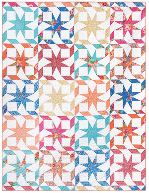*NEW* Candy Stripe Star Pattern & Template Set