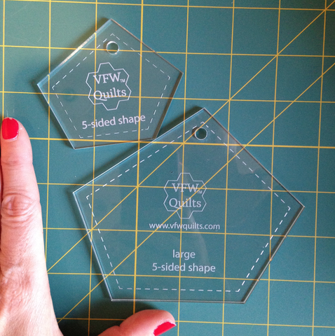 5 Sided Acrylic templates for Made Fabric