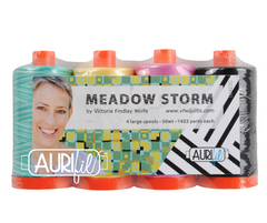 4 Pack Meadow Storm Aurifil Thread pack