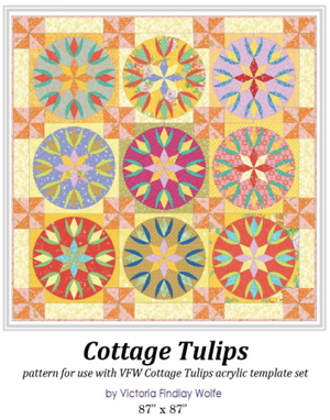 *New* Cottage Tulips Pattern and Template Set