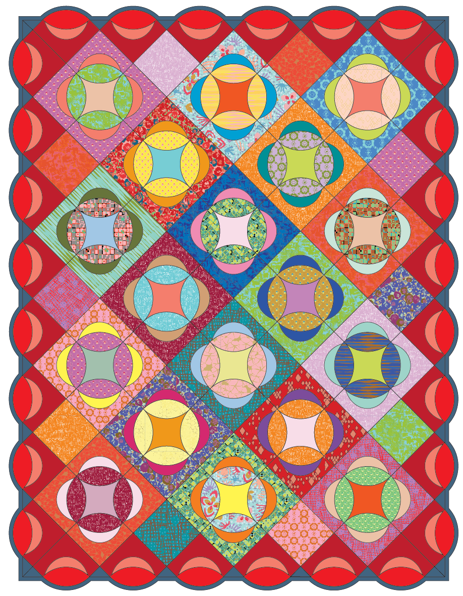 new majesty pattern and template set victoria findlay wolfe quilts