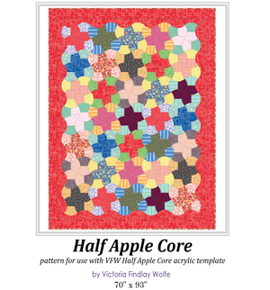 *NEW* Half Apple Core Pattern and Template