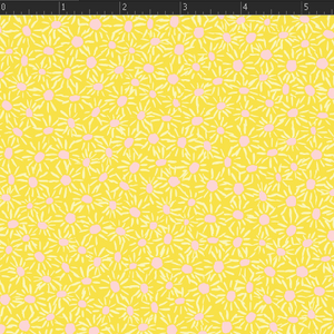 Daisies - Yellow Fabric VF306-YE2