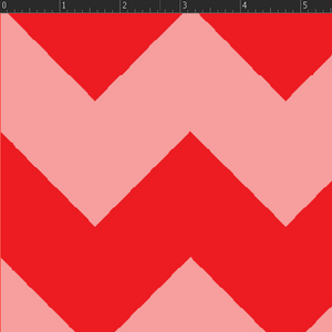 Chevron Stripe - Red Fabric VF203-RE1