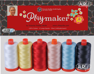 *NEW* 6 Pack Playmaker 50wt Aurifil Thread box set