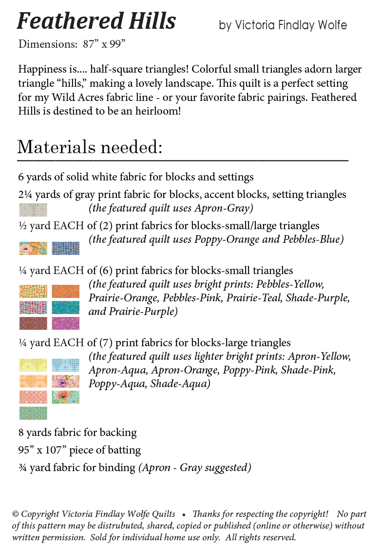 graphic relating to Large Solid Printable Numbers identify *Clean* Feathered Hills Quilt: Habit