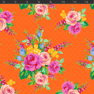*NEW* Elise Floral - Orange Fabric