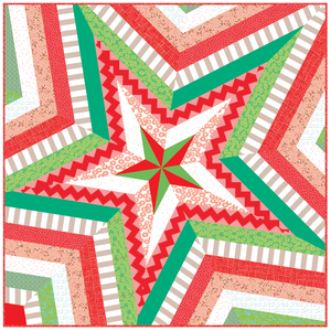 "*NEW* Star Storm 80"" Quilt Kit - Red & Green"