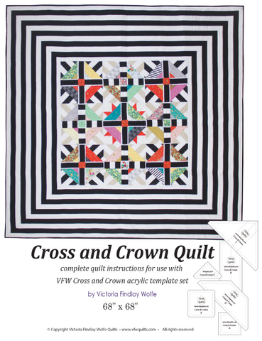Cross & Crown Quilt: Pattern & Templates
