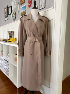 London Fog Trench Coat w/ Floral Thinsulate Lining - Size L