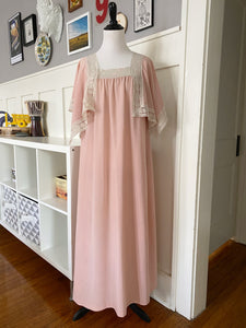 Sears Pink Lace Flutter Sleeve Midi Dress - Size S