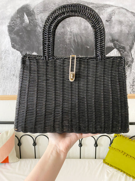Black Basket Purse