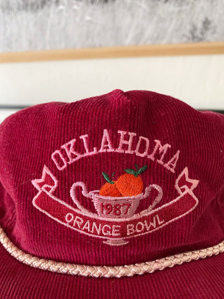 University of Oklahoma 1987 Orange Bowl Hat - One Size