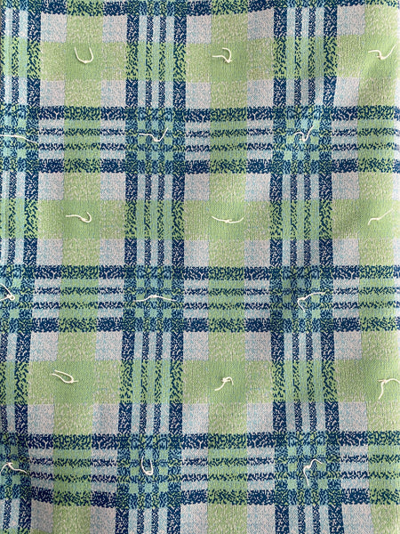 Handmade Green and Blue Plaid Queen Size Throw Blanket