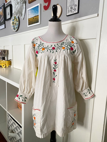 Mexican Embroidered Tunic - Size M