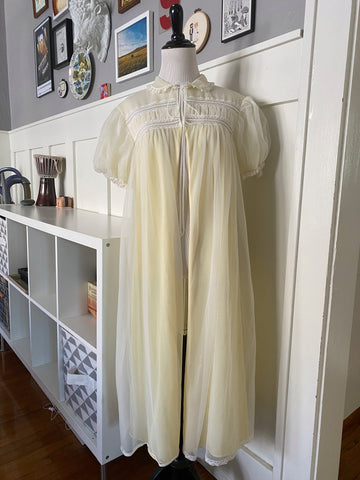 Pastel Yellow Tie Front Nightie - Size S-XL