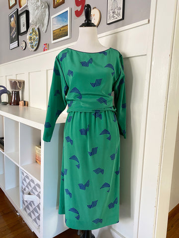 Green & Navy 2 Piece Set - Size M