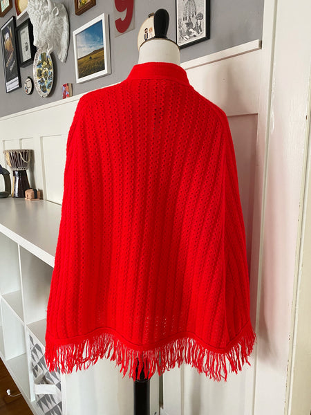 Red Poncho - One Size