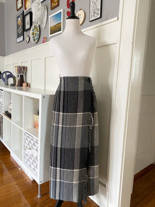 Gray Plaid Blanket Skirt - Size XL