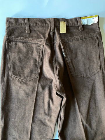 Levi's Deadstock Brown Bell Bottoms - Size 33