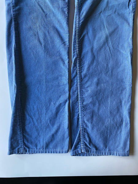 Light Blue Corduroy Pants - Size 33
