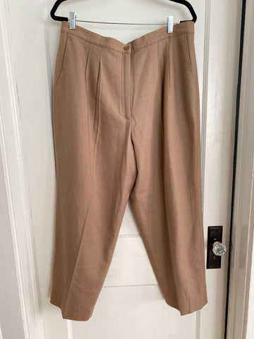 Beige Wool Slacks - Size XL