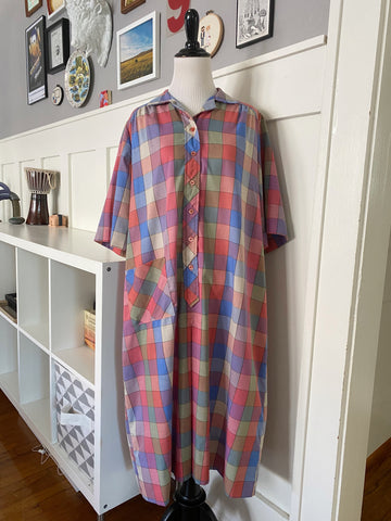 Grid Housedress - Size L/XL