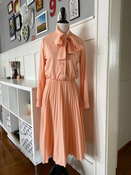 Peach Bow Dress - Size M