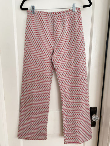 Printed Polyester Pants - Size S