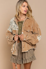 Load image into Gallery viewer, POL Wild At Heart Camel Cord Jacket