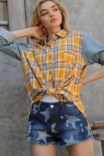 Rebel Flannel & Yellow Plaid Oversized Shirt
