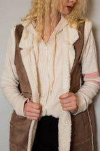 Load image into Gallery viewer, Sherpa Long Duster Suede Vest